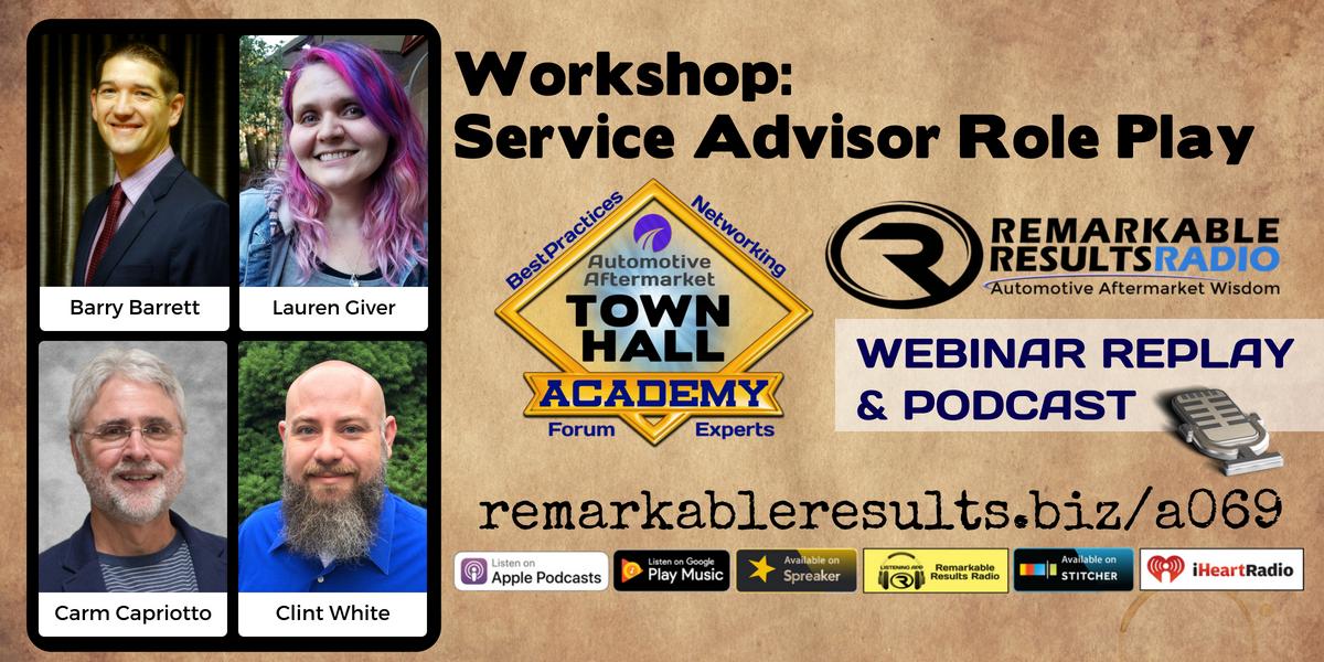 Workshop Service Advisor Customer Role Play Automotive