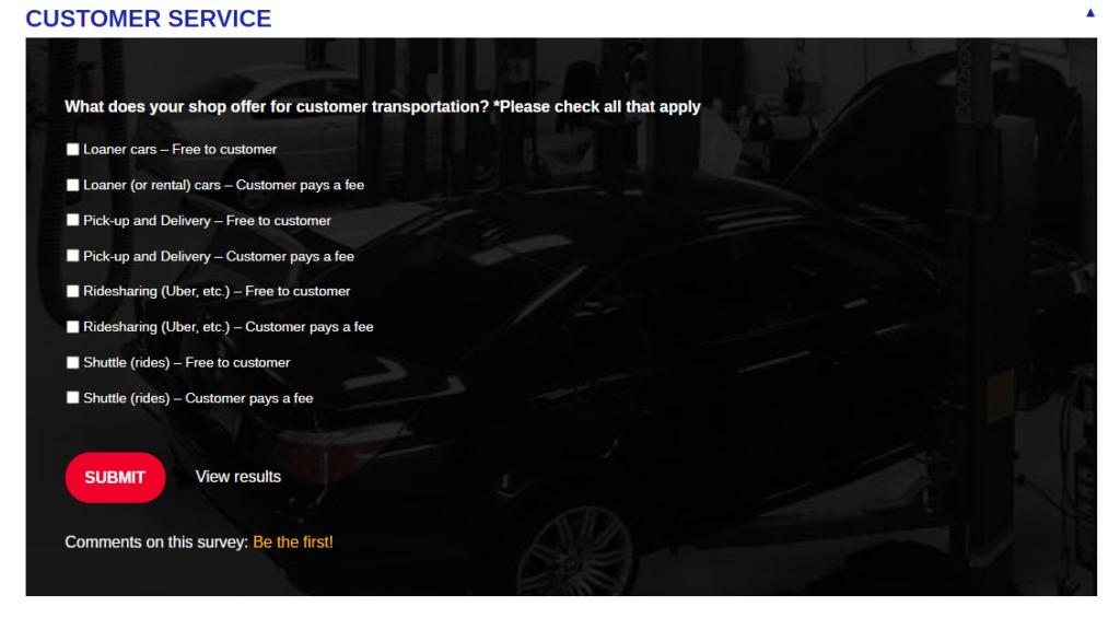 loaner car survey