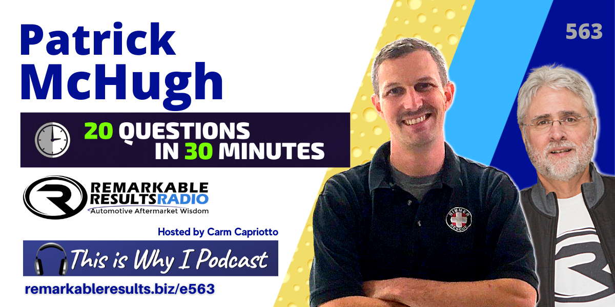 PODCAST: Patrick McHugh – 20 Questions in 30 Minutes [RR 563]
