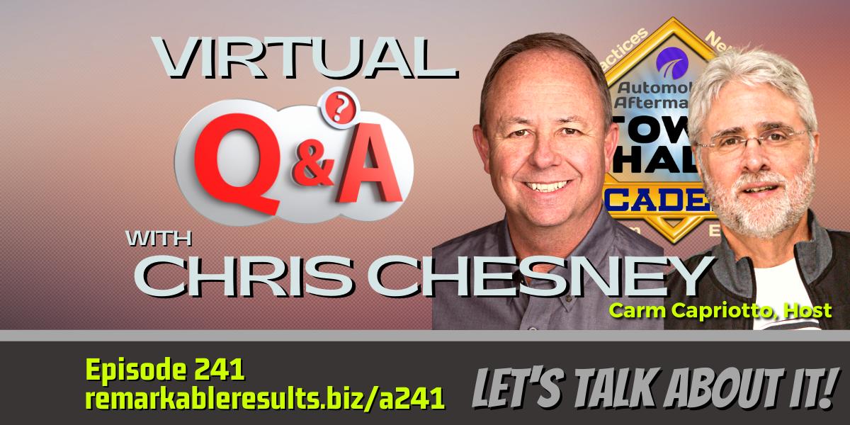 Q & A with Chris Chesney [THA 241] – AUDIO 57 Mins